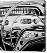 1958 Chevrolet Impala Steering Wheel Canvas Print