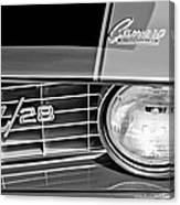 1969 Chevrolet Camaro Z 28 Grille Emblem Canvas Print