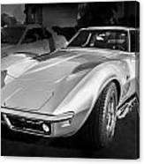 1969 Chevrolet Corvette 427 Bw Canvas Print