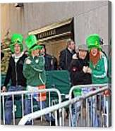 A View Of Some People Enjoying The 2009 New York St. Patrick Day Canvas Print