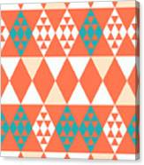 Abstract Retro Pattern. Vector Canvas Print