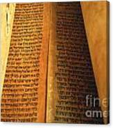 Ancient Torah Scrolls From Yemen  Canvas Print