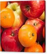 Apple Tangerine And Oranges Canvas Print