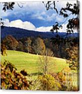 Autumn Hillside And Rain Clouds Canvas Print