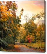 Autumn's Sunset Path Canvas Print