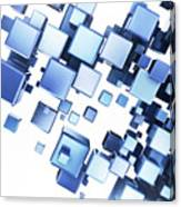 Blue Cubes Canvas Print