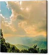 Blue Ridge Parkway Scenic Mountains Overlook Canvas Print