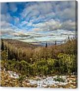 Blue Ridge Parkway Winter Scenes In February Canvas Print