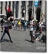 Breakdancers Canvas Print