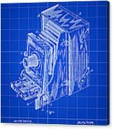 Camera Patent 1887 - Blue Canvas Print