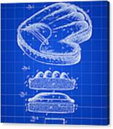 Catcher's Glove Patent 1891 - Blue Canvas Print