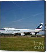 Cathay Pacific Boeing 747 Canvas Print
