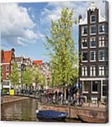 City Of Amsterdam Cityscape Canvas Print