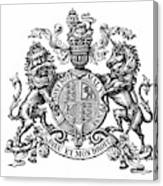 Coat Of Arms Great Britain Canvas Print
