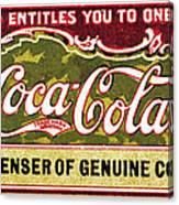 Coca - Cola Vintage Poster Canvas Print