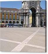 Commerce Square In Lisbon Canvas Print