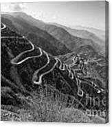 Curvy Roads Silk Trading Route Between China And India Canvas Print