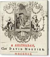 Desiderius Erasmus  Dutch Humanist Canvas Print