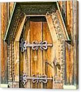 Detail Of The Door Of A Typical Ukrainian Antique Orthodox Churc Canvas Print