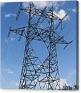 Electricity Pylon Canvas Print