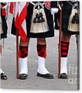 English Uniforms Canvas Print