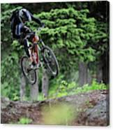 Extreme Biking In Alaska Canvas Print