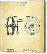 Fishing Reel Patent From 1874 Canvas Print