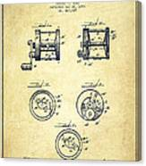 Fishing Reel Patent From 1892 Canvas Print
