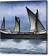 Fishing Vessel In The Arabian Sea Canvas Print