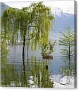 Flooding Alpine Lake Canvas Print