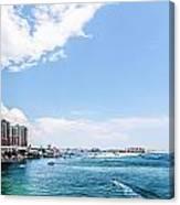Florida Beach Scene Canvas Print