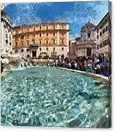 Fontana Di Trevi In Rome Canvas Print