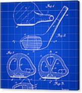 Golf Club Patent 1926 - Blue Canvas Print