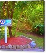 5 Hole Sign On  Golf Course 2 Canvas Print