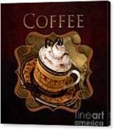 Cappuchino Coffee Gallery Canvas Print