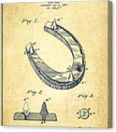 Horseshoe Patent Drawing From 1881 Canvas Print