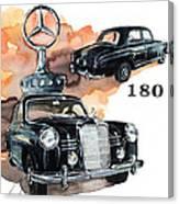 Mercedes 180 Canvas Print