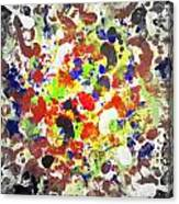 Modern Abstract Painting Original Canvas Art Twister By Zee Clark Canvas Print