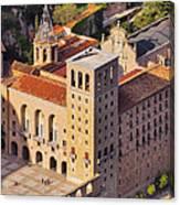 Monastery In Montserrat Canvas Print