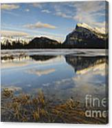 Mt. Rundle And Vermillion Lake Canvas Print