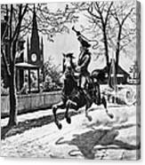 Paul Reveres Ride, 1775 Canvas Print