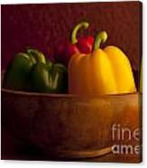 Peppers Still Life Close-up Canvas Print
