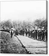 Railroad Construction Canvas Print