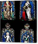 Religious Stained Glass Windows Canvas Print