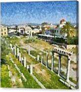Roman Market Canvas Print