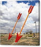 Route 66 - Twin Arrows Trading Post Canvas Print