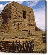 Ruins Of The Pecos Pueblo Mission Canvas Print