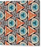 Seamlessly Tiled Kaleidoscopic Mosaic Pattern Canvas Print