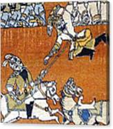 Shahnameh Ferdowsi Rostam And Sohrab Photos Of Persian Antique Rugs Kilims Carpets  Canvas Print