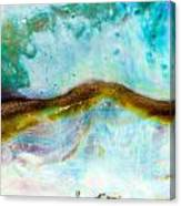 Shiny Nacre Of Paua Or Abalone Shell Background Canvas Print